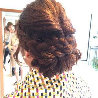 ヘアアレンジ 前髪あり フェミニン 大人かわいい ヘアスタイルや髪型の写真・画像