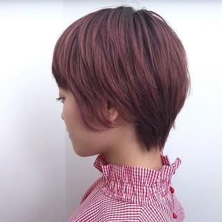 ショート ストリート ピンク ヘアスタイルや髪型の写真・画像