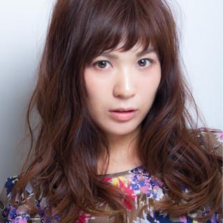 大人かわいい ロング 秋 小顔 ヘアスタイルや髪型の写真・画像
