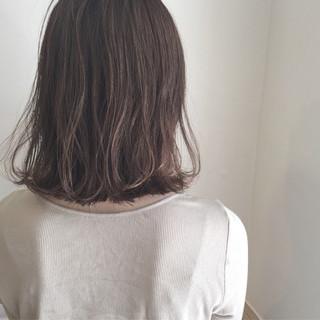 デート ボブ 外ハネ ナチュラル ヘアスタイルや髪型の写真・画像