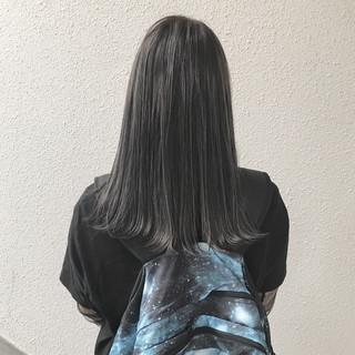 ハイライト ストリート ハイトーン セミロング ヘアスタイルや髪型の写真・画像 ヘアスタイルや髪型の写真・画像