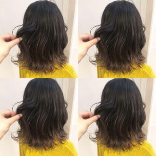 オフィス セミロング ヘアアレンジ デート ヘアスタイルや髪型の写真・画像