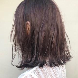 ラベンダー ラベンダーアッシュ ミディアム 外ハネ ヘアスタイルや髪型の写真・画像 ヘアスタイルや髪型の写真・画像