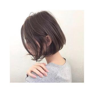 秋 ニュアンス ボブ モード ヘアスタイルや髪型の写真・画像