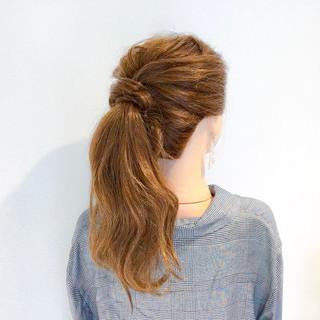 ロング ヘアアレンジ デート アウトドア ヘアスタイルや髪型の写真・画像