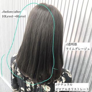 前髪 ストレート 髪質改善 縮毛矯正 ヘアスタイルや髪型の写真・画像