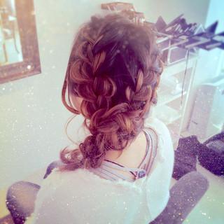 大人かわいい 結婚式 ハイライト ヘアアレンジ ヘアスタイルや髪型の写真・画像