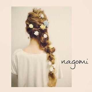 編み込み 大人かわいい ロング ヘアアレンジ ヘアスタイルや髪型の写真・画像