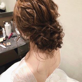 ヘアアレンジ セミロング 結婚式 結婚式ヘアアレンジ ヘアスタイルや髪型の写真・画像