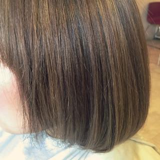 ミルクティーベージュ ハイライト ミルクティー ボブ ヘアスタイルや髪型の写真・画像 ヘアスタイルや髪型の写真・画像