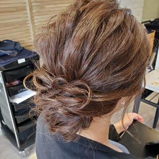 ロングヘア セミロング エレガント ヘアセット ヘアスタイルや髪型の写真・画像