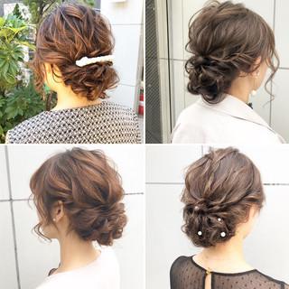 ヘアアレンジ アンニュイほつれヘア デート 結婚式 ヘアスタイルや髪型の写真・画像