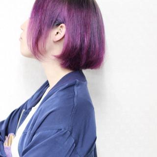 モード 暗髪 ワンレングス ボブ ヘアスタイルや髪型の写真・画像