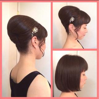 アップスタイル 和装 パーティ 結婚式 ヘアスタイルや髪型の写真・画像 ヘアスタイルや髪型の写真・画像