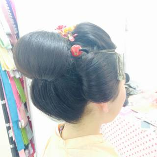 成人式 ヘアアレンジ 着物 ロング ヘアスタイルや髪型の写真・画像