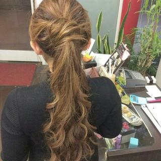 ハーフアップ ヘアアレンジ ロング ナチュラル ヘアスタイルや髪型の写真・画像 ヘアスタイルや髪型の写真・画像