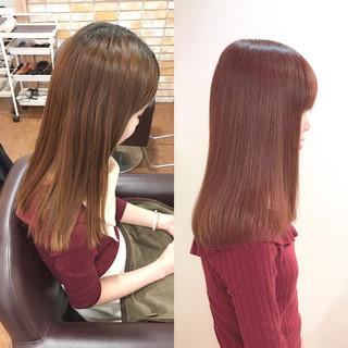 ピンク エレガント 上品 ベージュ ヘアスタイルや髪型の写真・画像