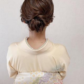 結婚式髪型 訪問着 ヘアアレンジ エレガント ヘアスタイルや髪型の写真・画像
