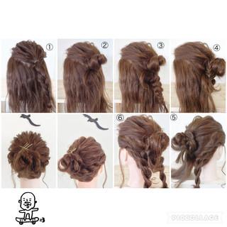 ねじり 三つ編み ヘアアクセ ヘアアレンジ ヘアスタイルや髪型の写真・画像 ヘアスタイルや髪型の写真・画像