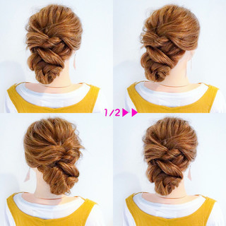 フェミニン ヘアアレンジ 簡単ヘアアレンジ デート ヘアスタイルや髪型の写真・画像 ヘアスタイルや髪型の写真・画像