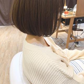 ハンサムショート ミニボブ ショートボブ 切りっぱなしボブ ヘアスタイルや髪型の写真・画像