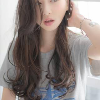 ストリート 黒髪 ロング 外国人風 ヘアスタイルや髪型の写真・画像