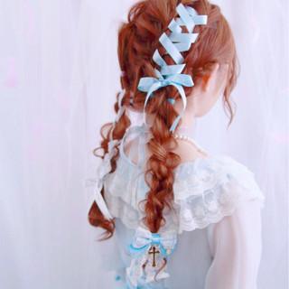 ガーリー かわいい フェミニン ツインテール ヘアスタイルや髪型の写真・画像