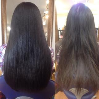 アッシュ 暗髪 ロング 黒髪 ヘアスタイルや髪型の写真・画像 ヘアスタイルや髪型の写真・画像