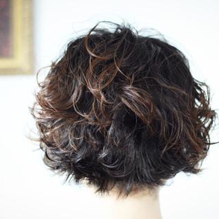 ナチュラル ショートマッシュ パーマ  ヘアスタイルや髪型の写真・画像