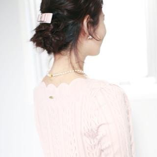 ショート 大人かわいい フェミニン ヘアアレンジ ヘアスタイルや髪型の写真・画像