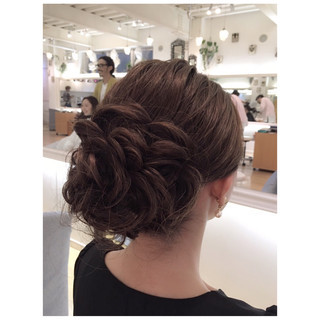 ヘアアレンジ ボブ ローズ ナチュラル ヘアスタイルや髪型の写真・画像 ヘアスタイルや髪型の写真・画像