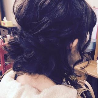 ヘアアレンジ かわいい ミディアム ナチュラル ヘアスタイルや髪型の写真・画像
