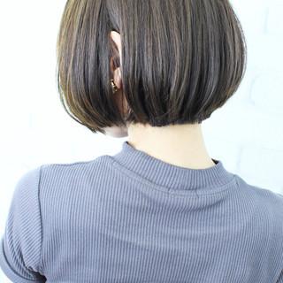 ボブ 前下がりボブ 似合わせカット ナチュラル ヘアスタイルや髪型の写真・画像
