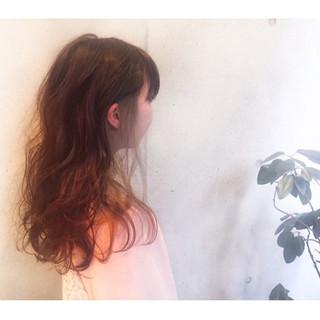 ストリート 外国人風 ハイライト ロング ヘアスタイルや髪型の写真・画像