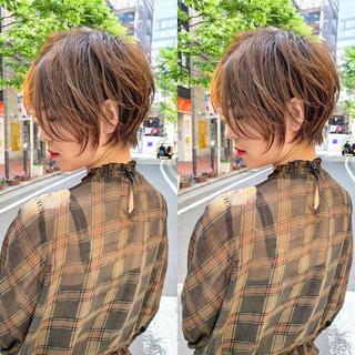 ショート 小顔ショート ナチュラル ハンサムショート ヘアスタイルや髪型の写真・画像