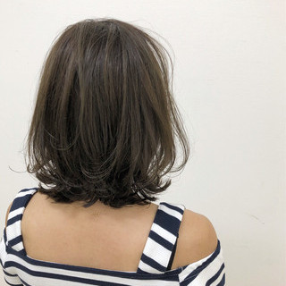 透明感 エアリー ボブ 外国人風 ヘアスタイルや髪型の写真・画像