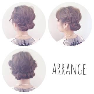 編み込み モテ髪 大人かわいい ヘアアレンジ ヘアスタイルや髪型の写真・画像