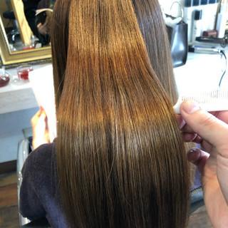縮毛矯正 髪質改善 ロング ナチュラル ヘアスタイルや髪型の写真・画像 ヘアスタイルや髪型の写真・画像