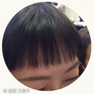 ミディアム ストリート シースルーバング オン眉 ヘアスタイルや髪型の写真・画像