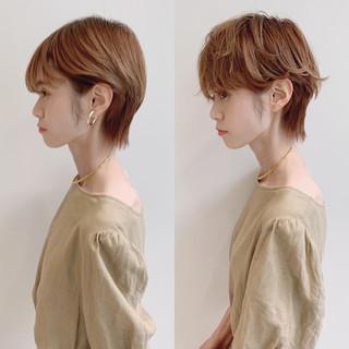ショート デート 大人ショート ナチュラル ヘアスタイルや髪型の写真・画像