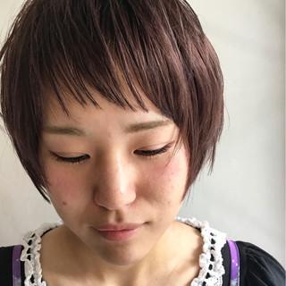 前髪あり ブリーチ シースルーバング ショート ヘアスタイルや髪型の写真・画像 ヘアスタイルや髪型の写真・画像