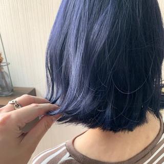 大人かわいい ネイビーブルー ブルージュ 簡単ヘアアレンジ ヘアスタイルや髪型の写真・画像