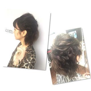 波ウェーブ ヘアアレンジ 編み込み 結婚式 ヘアスタイルや髪型の写真・画像 ヘアスタイルや髪型の写真・画像