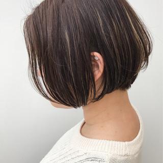 大人女子 大人かわいい ボブ ハイライト ヘアスタイルや髪型の写真・画像