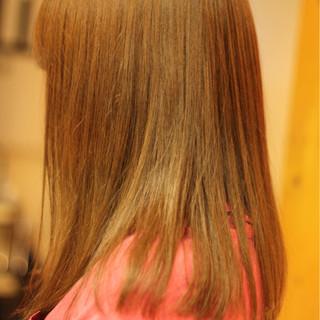 艶髪 セミロング ストレート 愛され ヘアスタイルや髪型の写真・画像