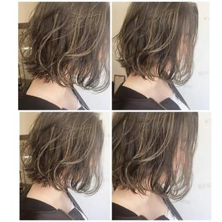 アッシュ ボブ 外国人風 黒髪 ヘアスタイルや髪型の写真・画像