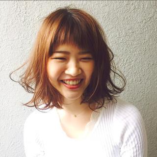 外国人風 ストリート ヘアアレンジ ミディアム ヘアスタイルや髪型の写真・画像