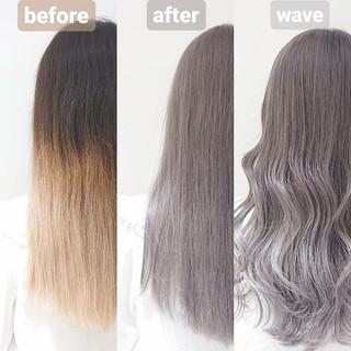ロング グレージュ 透明感 透明感カラー ヘアスタイルや髪型の写真・画像