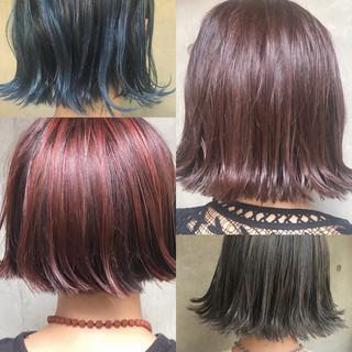 ヘアアレンジ モード パーマ ボブ ヘアスタイルや髪型の写真・画像