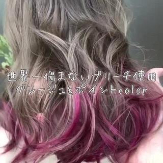 女子力 外国人風 外国人風カラー ブリーチ ヘアスタイルや髪型の写真・画像